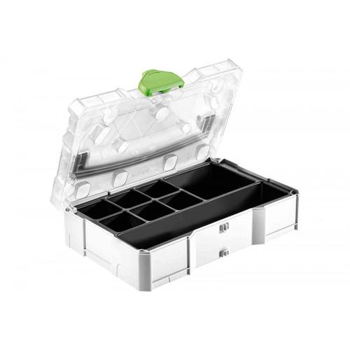 Festool FES-203821 MINI T-LOC Systainer W/ Transparent Lid & Insert