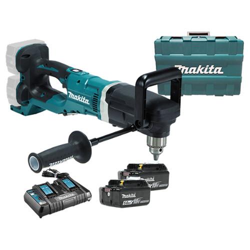 Makita DDA460PT2 18Vx2 BL Angle Drill 5AH Kit