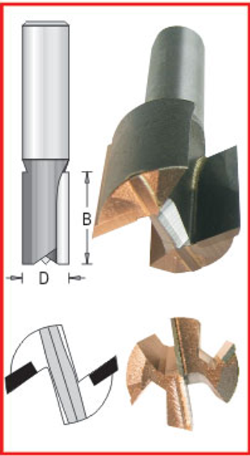 "Dimar DIM-B841  1-5/8"" Bottom Carbide Bit"