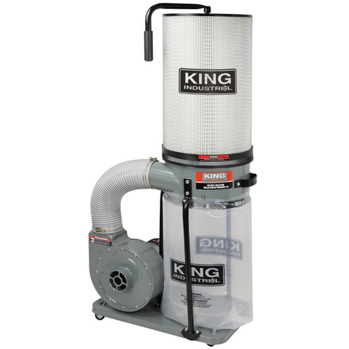 KING KC-2405C/KDCF-2400 1 HP Dust Collector/ Canister