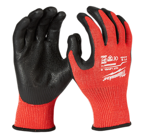 Milwaukee Cut 3 Nitrile Dipped Gloves