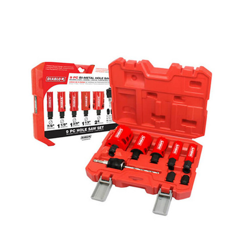 Freud Diablo FRE-DHS09SGP 9-Piece Bi-Metal Hole Saw Set