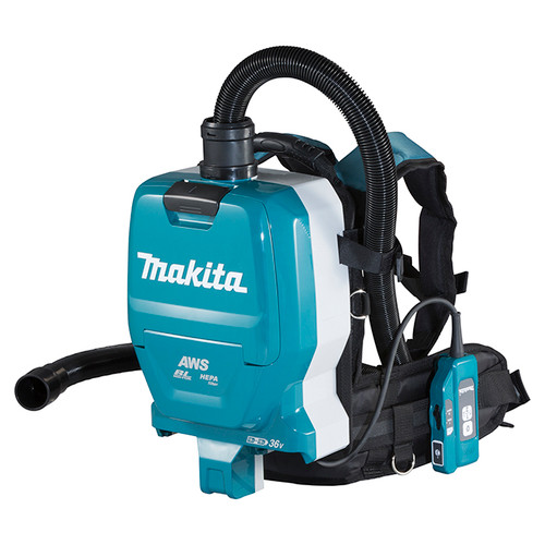 Makita DVC265ZXU 18Vx2 LXT Cordless Backpack Vacuum Cleaner with AWS (2.0 L)