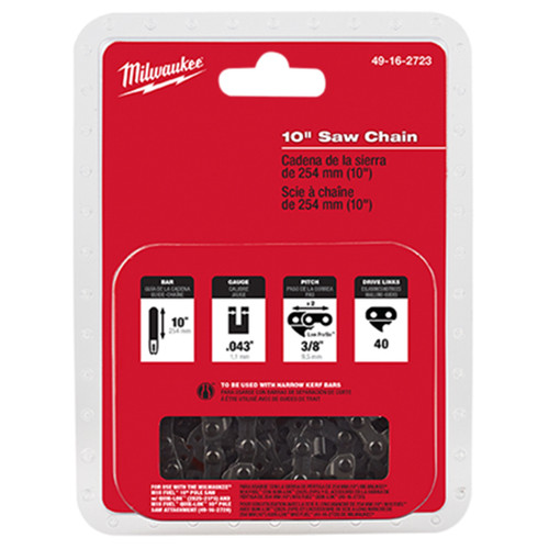 """Milwaukee 49-16-2723 10"""" Pole Saw Replacement Chain"""