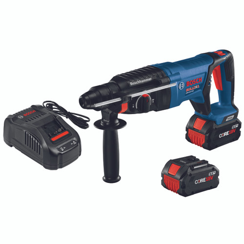 Bosch GBH18V-26DK24 18V EC Brushless SDS-plus Bulldog 1 In. Rotary Hammer Kit with (2) CORE18V 8.0 Ah Performance Batteries