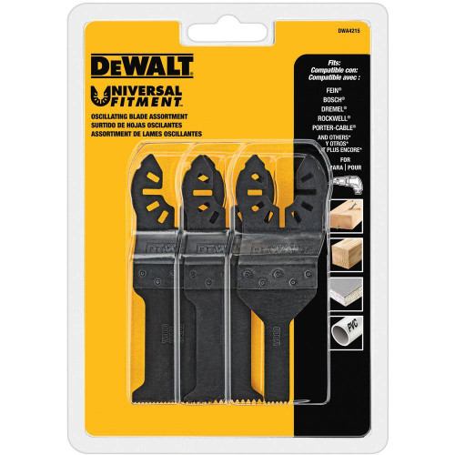 DeWALT DWA4215 Oscillating Blade Set (3-Piece)