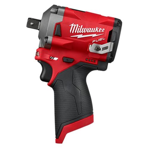 "Milwaukee 2555P-20 M12 FUEL 1/2"" Stubby Impact Wrench w/ Pin Detent"