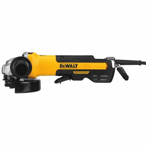"DeWALT DWE43244N 5"" / 6"" Brushless Paddle Switch Small Angle Grinder w/ Kickback Brake, No Lock"