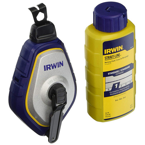 Irwin IRW-1932887 Speed-Line Pro Chalk Reel - Standard Blue Chalk