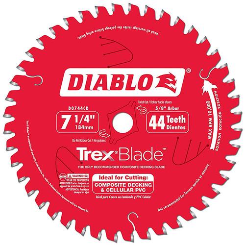 Freud FRE-D0744CDC Diablo 7-1/4 in. x 44-Tooth Trex Blade
