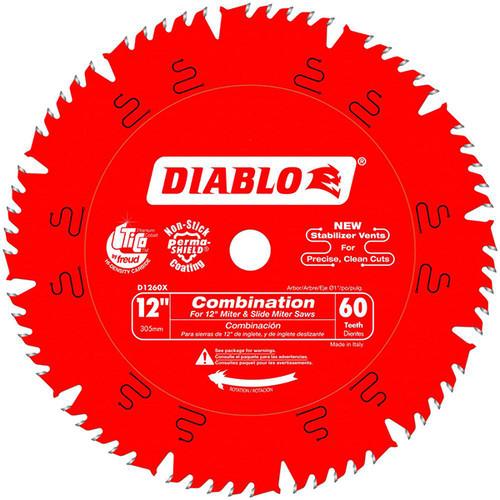 Freud FRE-D1260X Diablo 12 in. x 60-Teeth Combination Saw Blade