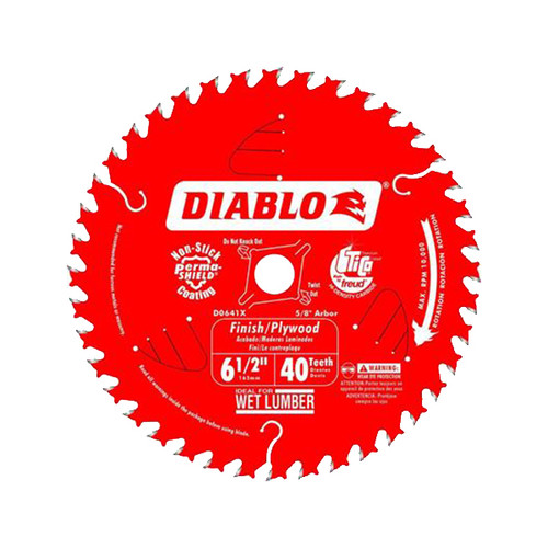 Freud FRE-D0641A Diablo 6-1/2 in. x 40-Tooth Finish/Plywood Saw Blade