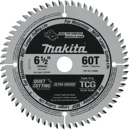 Makita A-99998 6-1/2 x 60T Saw Blade Carbide TCG For Melamine