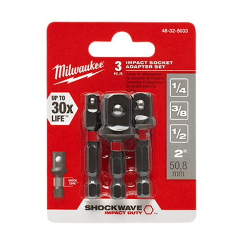 Milwaukee 48-32-5033 3Pc Socket Adapter Set
