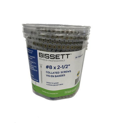 Bissett Fasteners Ltd BIS-BF-TDS8212-8C 8 X 2-1/2In Tan Deck T17 800