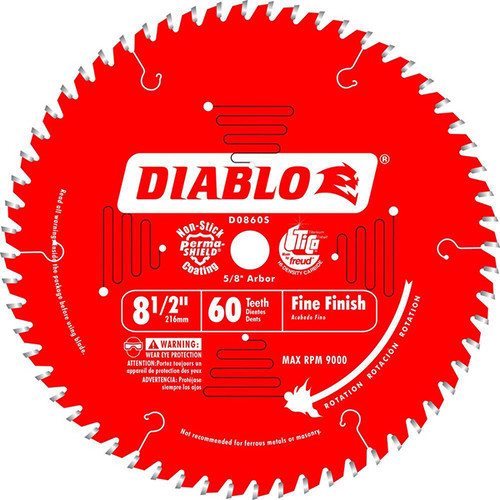 "Freud FRE-D0860S 8-1/2"" X 60T Finishing Saw Blade"