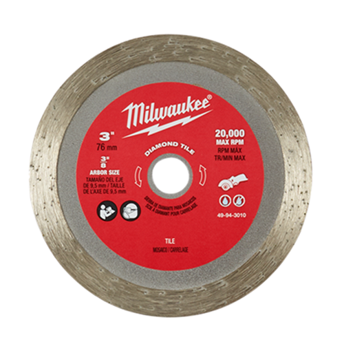 "Milwaukee 49-94-3010 3"" Diamond Tile Blade"