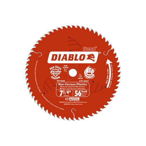 "Freud FRE-D0756N Diablo 7-1/4"" X 56T Aluminum Saw Blade"