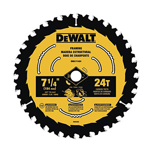 """DeWALT DWA171424 7-1/4"""" Circular Saw Blade"""