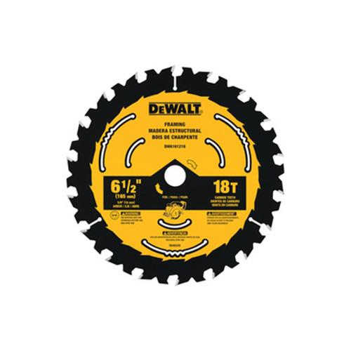 """DeWALT DWA161218 6-1/2"""" X 18T Circular Saw Blade"""