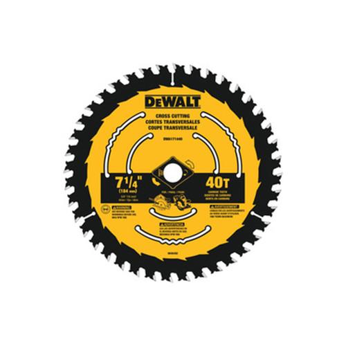 """DeWALT DWA171440 7-1/4"""" x 40T Circular Saw Blades"""