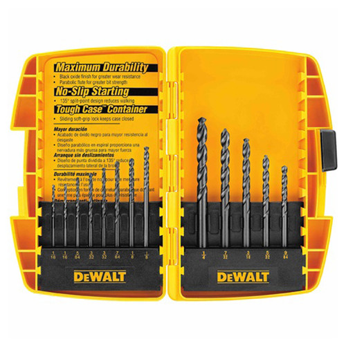 DeWALT DW1163 13-PC. Black Oxide Drill Bit Set
