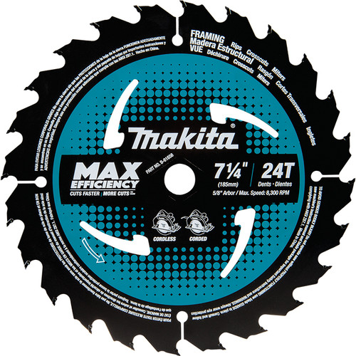 Makita B-61656 7-1/4In 24T Max Efficiency Blade