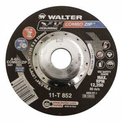 "Walter Surface Technologies WAL-11T852 Combo Zip 5"" Cut-Off Wheel"