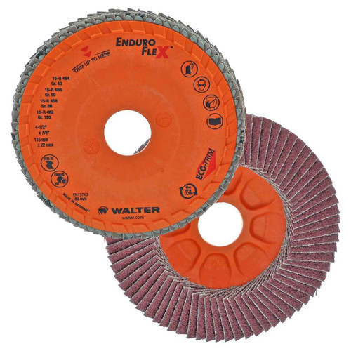 "Walter Surface Technologies WAL-15R454 4.5"" Enduro-Flex Spin-On Flap Disc 40 Grit"