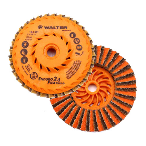 "Walter Surface Technologies WAL-15I501 5"" Enduro-Flex 2-in-1 Spin-On Flap Disc"