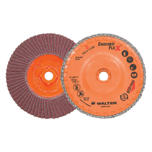 """Walter Surface Technologies WAL-06B504 5"""" Enduro-Flex Spin-On Flap Disc 40 Grit"""
