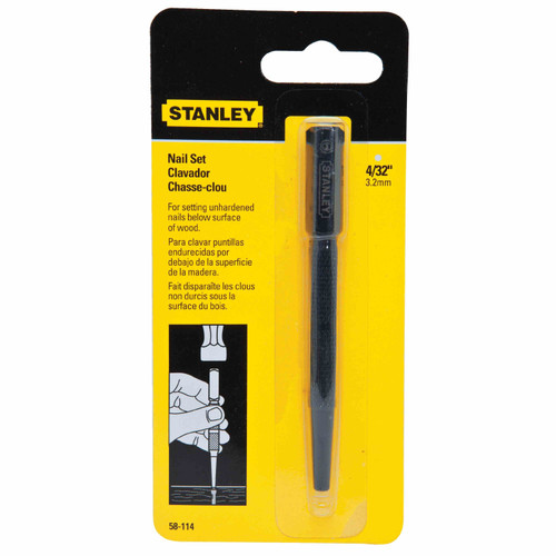 Stanley 58-114 4/32 Inch Steel Nail Set