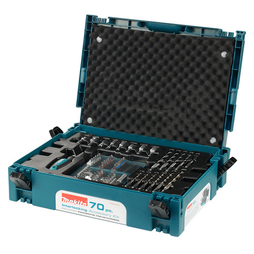Makita B-51889 70-Piece Drill & Driver Bit Interlocking Accessory Kit