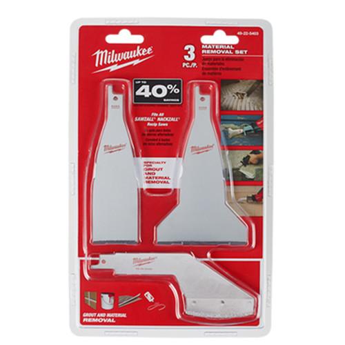Milwaukee 49-22-5403 SAWZALL Material Removal Blade Set 3pc