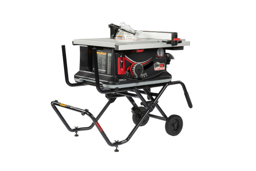 Sawstop SAW-JSS120A60 Jobsite Saw PRO with Mobile Cart Assembly - 15A,120V,60Hz