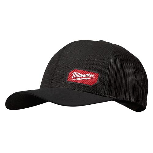 Milwaukee 505B GRIDIRON Snapback Trucker Hat - Black