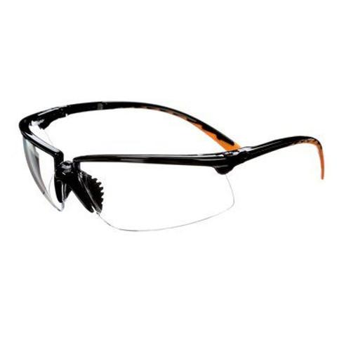 3M 3M-12261-00000 Privo Protective Eyewear clear anti-fog lens, black frame
