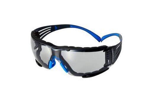 3M 3M-SF402SGAF-BLU-F SecureFit Protective Eyewear 400 Series, Grey Scotchgard Anti-Fog Lens, Removable Foam Gasket 20 EA/Case