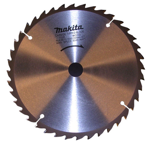 """Makita A-90629 7‑1/2"""" 40T Carbide‑Tipped Miter Saw Blade"""