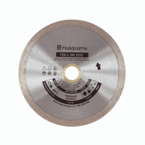 "Husqvarna HUSQ-542761261 7"" TSD-C Dri Disc Ceramic Tile Wet/Dry Cutting Diamond Blade"