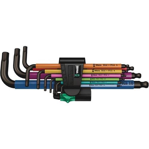 Wera Tools WERA-05022089001 950/9 Hex-Plus Multicolour 1 L-key set, metric, BlackLaser