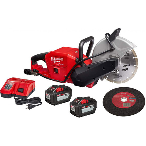 "Milwaukee 2786-22HD M18 FUEL Brushless Cordless 9"" Cut-Off Saw W/ ONE-KEY 12Ah Kit"