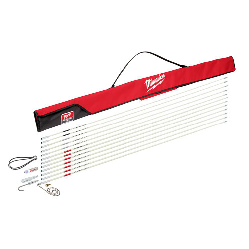 Milwaukee 48-22-4156 60 ft. Fiberglass Fish Stick Low/Mid/High Flex Combo Kit with Accessories
