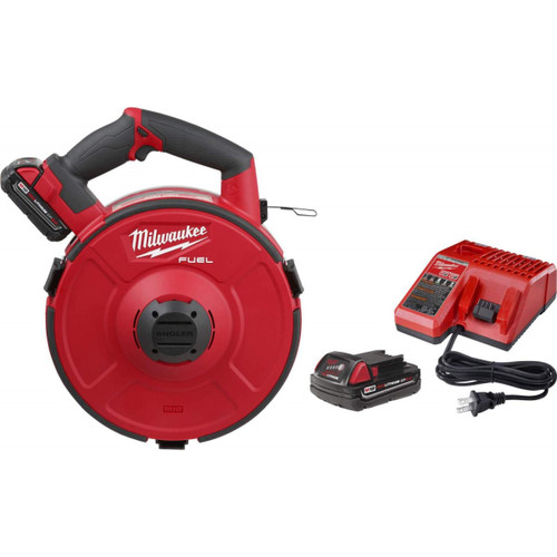 Milwaukee 2873A-22 M18 FUEL Angler 120' Steel Pulling Fish Tape Kit