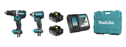 Makita DLX2180T 18V LXT Cordless Hammer Drill and Impact Driver Combo Kit - 5.0AH