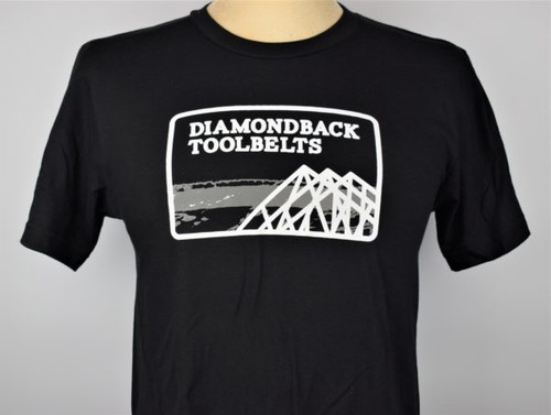 DiamondBack ToolBelts DBT-DB-TRADET-BLK Respect the Trades Truss Logo T-Shit Black