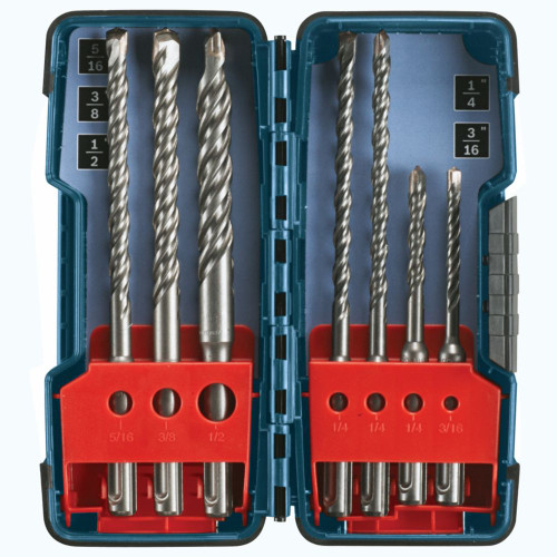 Bosch HCK001 7 pc. SDS-plus Bulldog Rotary Hammer Bit Set