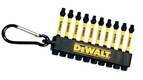 "Dewalt DWA3SQ2IRCARC Flex Torq 2"" Square 10 Pack Impact Drivers with Carabiner"