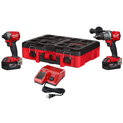 Milwaukee 2997-22POC M18 2-Tool Combo Kit: Hammer Drill/Impact with PACKOUT