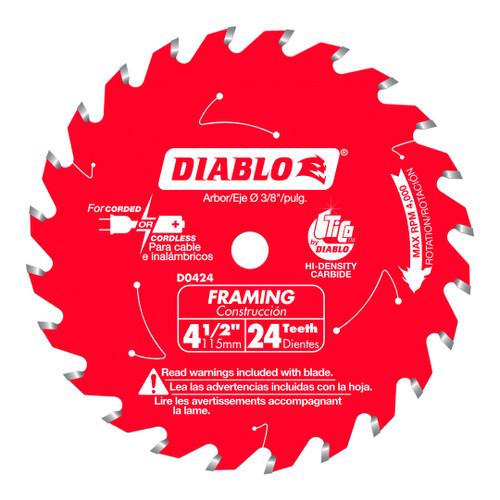 Freud FRE-D0424X Diablo 4‑1/2 in. x 24 Tooth Framing Trim Saw Blade